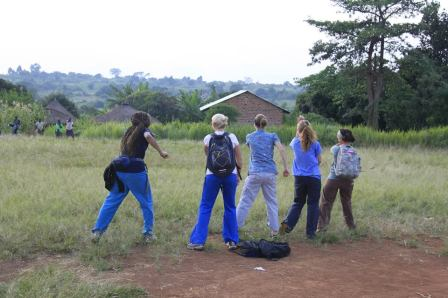 Toya, Carrie, Neysa, Allie and I starting the dance off. One of my most memorable moments from the trip.