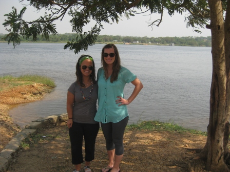 April and I in front of the Nile River. Love this girl.