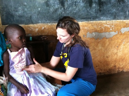 While I asked mom questions, Dr. K. examined this little girl.