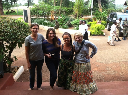 Dr. K, Jory, myself and Allison leaving the Masindi hotel.