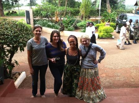 Dr. K, Jory, myself and Allison leaving the Masindi hotel.